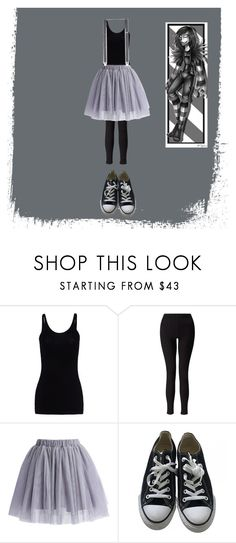 """""""(After) Laughing Jack Genderbend"""" by depressed-music-lover ❤ liked on Polyvore featuring T By Alexander Wang, Miss Selfridge, Chicwish, Converse and Topman"""