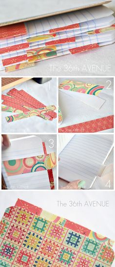 Paper Book Cover Tutorial : Altered composition notebook planner
