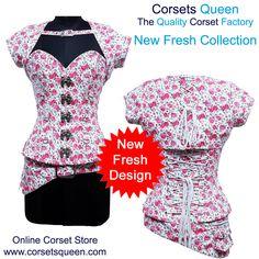 Fresh New Design, Mishka Steampunk Overbust Corset, Fashion Corset, Corset Dress, Printed Corset. Plus Size Corset