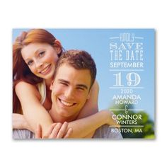 40% OFF   Right Typography - Photo Save the Date  http://mediaplus.carlsoncraft.com/Wedding/Save-the-Dates/3254-TWSSD40793-Right-Typography--Photo-Save-the-Date.pro