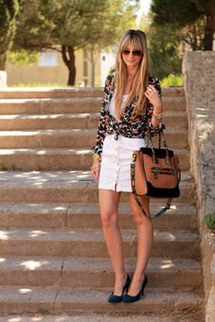 Blouse: c/o Sheinside  Top, skirt, and shoes: New Yorker  Bag: Aldo  Sunnies: Ray Ban