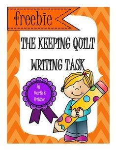 "If you are looking for a way to incorporate more writing into the NYS Grade 4 ELA Modules then this product is for you! This task is designed to be used with ""The Keeping Quilt"". Students will be guided through a graphic organizer to get started with the writing process."
