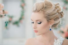 Collected wavy wedding hairstyle #hot #sexy #hairstyles #hairstyle #hair #long #short #buns #updo #braids #bang #blond #wedding #style #haircut #bridal #curly #bride #celebrity #black #white #trend #bob #girl #pantyhose #stockings #bikini #legs