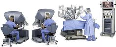 This picture shows the processes of robotic surgery.