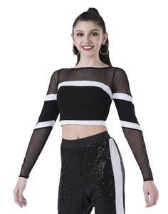 Long Sleeve Athletic Crop. Dance CostumesHip Hop ... 141d6ef35aef