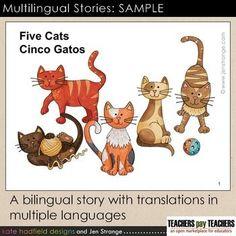 Multilingual Stories SAMPLE. Bilingual stories w/ translations in multiple languages. | by Jen Strange