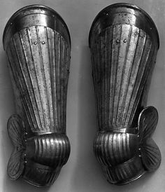 The Metropolitan Museum of Art - Pair of Thigh Defenses (Cuisses) with Knee Defenses (Poleyns) Leg Harness, Knight Armor, Medieval Armor, Art Object, Thighs, German, Metropolitan Museum, Emperor, Weapons