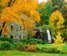 MS-8447  Wayside Inn Grist Mill, Sudbury, Massachusetts