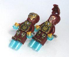 IORN MAN Men's Cufflinks  Minifigure  Lego®  by GlazedBlackCherry