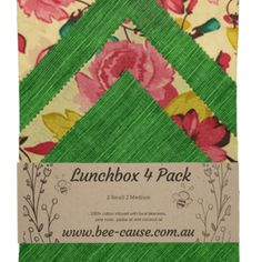 Lunch Pack (Pack of Wax Wraps, Bright Future, Biodegradable Products, Something To Do, Alternative, Lunch Box, Bee, Packing, Bag Packaging