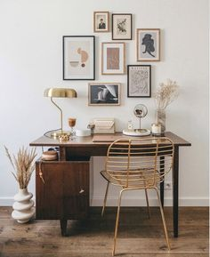 my scandinavian home: A Polish Photographer Shares Her Elegant Home And Best Shopping Tips! Office Decor, Home Office, Office Ideas, Scandinavian Desk, Interior Styling, Interior Design, White Apartment, Old Desks, Retro Furniture
