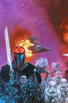 Crimson Empire (TPB) wrap-around back cover by Dave Dorman