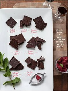 Host a chocolate tasting party