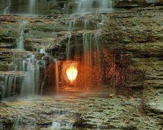 Eternal Flame Falls — Chestnut Ridge Park, Buffalo New York