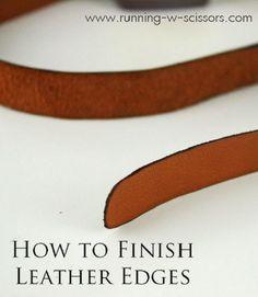 Tutorial: Finishing leather edges