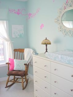 Baby Girl Nursery a little different