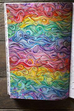Eigen kleurplaat uit Het enige echte kleurboek voor volwassenen.
