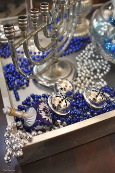 Chanukah Home Tour by FrugElegance