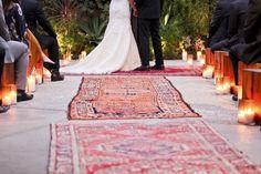 <3 Oriental Rugs as Aisle Way