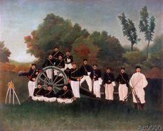 Henri Rousseau - Die Artilleristen (80,0 x 64,0 cm)