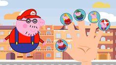#Mario #Peppa Pig Family / #Finger Family Collection/ Nursery Rhyme Lyrics Pig Family, Finger Family, Nursery Rhymes Lyrics, Peppa Pig, Mario, Youtube, Fictional Characters, Collection, Fantasy Characters