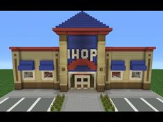 I have never heard of IHOP but it's a good structure Minecraft Mods, Minecraft Stores, Modern Minecraft Houses, Minecraft City Buildings, Minecraft Structures, Minecraft Plans, Amazing Minecraft, Minecraft House Designs, Minecraft Videos