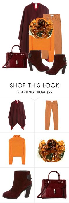 """# colored jeans for fall"" by andrea-jones-4 ❤ liked on Polyvore featuring Burberry, MANGO, Acne Studios, rag & bone and GUESS"