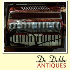 Attention all musicians, #DeDekkeAntiques are very proud to have a Piano accordion in stock. This Paolo's Soprani is in excellent condition and has it's original case. This could be yours for a bargain price of only R3450.00. #Antique #musicalinstruments #Accordion