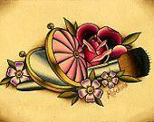 "5""x7"" Blush Brush and Roses Fine Art Giclee Print"