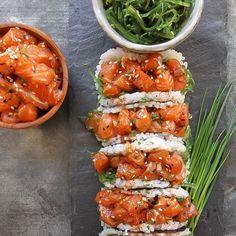 Salmon Poke Sushi Tacos