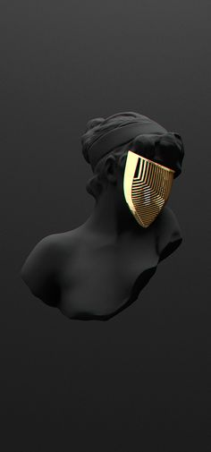 All black but gold Alles schwarz bis auf Gold bei Behance This image has get. All black but gold A All Black, Black Gold, Matte Black, Vitrine Design, Or Noir, Grafik Design, Art Design, Art Plastique, Oeuvre D'art