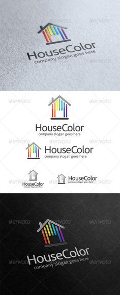 House Color  Logo Design Template Vector #logotype Download it here:  http://graphicriver.net/item/house-color-logo/5842526?s_rank=327?ref=nesto
