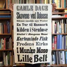 Danish printer's specimen, c. 1926. With a surprise fold out poster in the back. #specimen #poster