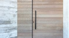 board-formed concrete + light-stained horizontal wood // Herne Bay House by Daniel Marshall Architect