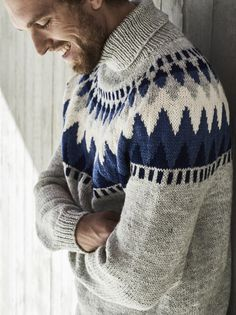 Novita's traditional Nordic knits, Men's pullover made with Novita7 Brothers yarn. #novitaknits #knitting #knits https://www.novitaknits.com/en