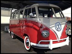 "1960 Volkswagen T2 Microbus Deluxe model 244 | first built in 1951 | splitting the windshield and roofline into a ""vee"" helped the production Type 2 achieve a drag coefficient of 0.44. The Transporter first generation T2 pre 1967 [mistakenly called T1]"