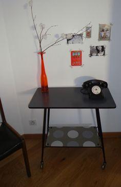 Chaise formica papier japonais rose henriette meubles et mobilier vintage restaur relook for Buffet formica restaure