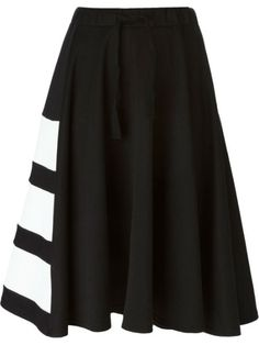 striped detail skirt : y-3