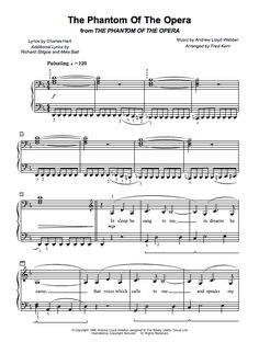 Phantom of the Opera | Easy Piano Sheet Music - http://www.musicnotes.com/sheetmusic/mtd.asp?ppn=MN0088293