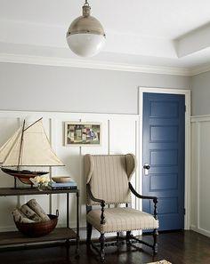hängelampe blaue zimmertür nautisch idee zimmer lampen und leuchten