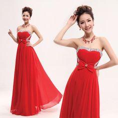 Online Shop 2013 bride dress formal dress long design tube top paillette red married evening dress evening dress|Aliexpress Mobile