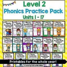 This Fundations Level 2 comatible Phonics Pack supports the whole year Unit Use these worksheet printables as word work, a double dose, morning work, or homework in your second grade classroom! First Grade Phonics, Grade Spelling, Second Grade Math, 2nd Grade Reading, Word Work Activities, First Grade Activities, Math Literacy, Literacy Centers, Wilson Reading