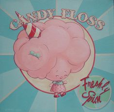 Candy Floss . Acrylic on Canvas  Cindy Scaife 2012