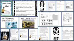 Solving a crime with algebra. Available to download at https://www.teacherspayteachers.com/Product/Crime-Scene-Algebra-Writing-and-using-formulae-2387981