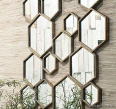 Lifestyle Divided Mirror Hexagon L