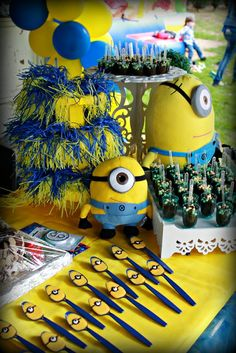 Just found Mikes birthday theme. Minion Party Theme, Despicable Me Party, Minion Birthday, 2nd Birthday Parties, Birthday Fun, Birthday Ideas, Childrens Party, Baby Shower, Party Time