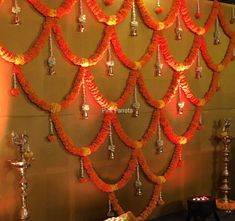 Decorations Flower Decorations Fiestas Hindu Decoraci Atilde N Wedding Hall Decorations, Diy Diwali Decorations, Marriage Decoration, Backdrop Decorations, Flower Decorations, Gauri Decoration, Mandir Decoration, Indian Decoration, Ganpati Decoration Design