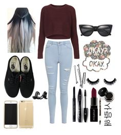 """""""Perhaps okay will be our always ❤️"""" by maryl3ann ❤ liked on Polyvore featuring Topshop, Miss Selfridge, Vans, BOBBY, Christian Dior, Illesteva, Lancôme, Smashbox and Maybelline"""