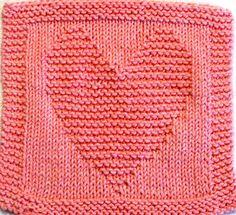 Knitting Cloth Pattern   HEART  PDF by ezcareknits on Etsy