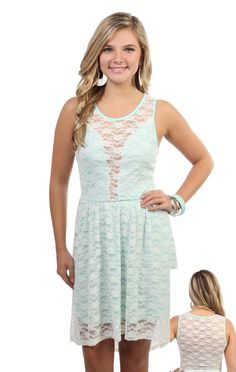 #mint green #lace high low #dress  $29.50